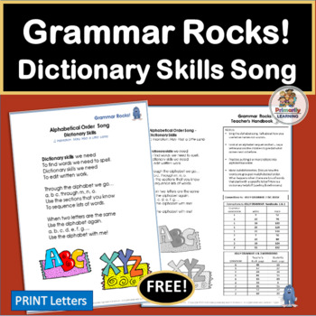 This Grammar Rocks! Dictionary Song includes a chart, lesson ideas, and an mp3!