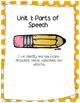 Grammar Workbook: Parts of Speech