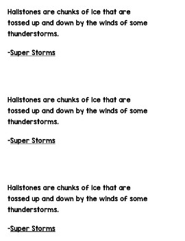 Grammar Works with Mentor Text Super Storms