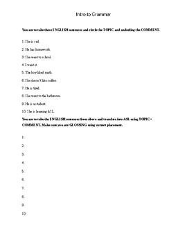 Grammar Worksheet 2