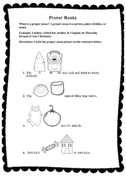 Grammar Worksheet Packet, Winter themed