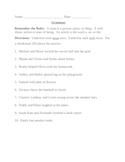 Grammar Worksheet - nouns, verbs, articles