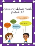 Grammar Worksheets Bundle for Grade 1 and 2