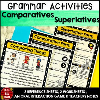 Grammar & Worksheets: Comparative and Superlative Adjectives