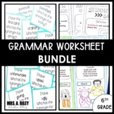 Grammar Worksheets | Doodle Notes and Activities | 6th Grade