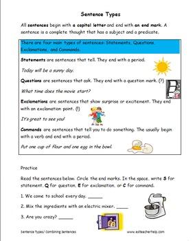 Grammar Worksheets ESL Levels 1-3 Middle and High School
