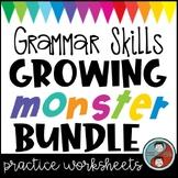 Grammar Worksheets - Growing Monster Bundle