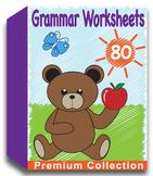 Grammar Worksheets for Kindergarten (80 Worksheets)