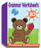Grammar Worksheets for Kindergarten (80 Worksheets)