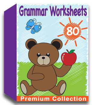 Grammar Worksheets - Includes 50 Premium Worksheets