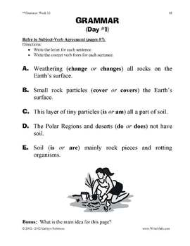 Daily Grammar & Punctuation Practice - 4th Grade Worksheets - FULL YEAR - CCSS