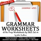 Grammar Worksheets, Lessons, ACT Prep, Skill Drill, VOL #1