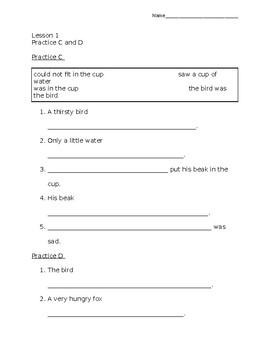 Grammar Workshop adapted worksheets