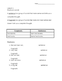 Grammar Workshop adapted worksheets