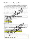 Grammar / Writing SOL Review: Paragraph Edit (Ocean Floor) and KEY