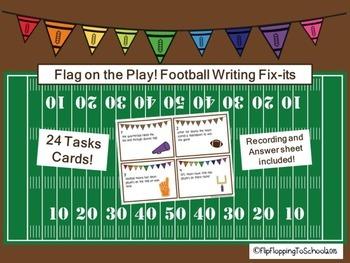 Grammar/ Writing Sentence Fix Its Football Theme