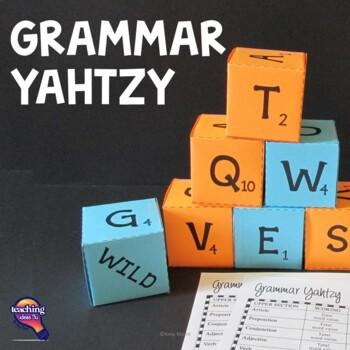 Grammar Yahtzy - Word Dice Game Grades 3 - 8