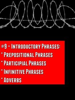 Grammar Z: Comma Rule #9