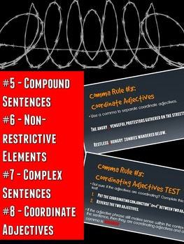 Grammar Z PowerPoint Lesson: Comma Rules #5-8