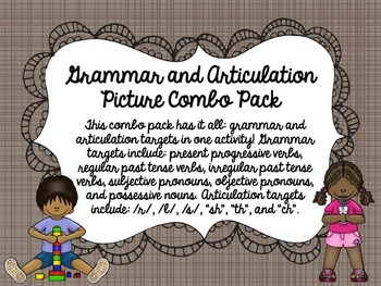 Grammar and Articulation Picture Combo Pack