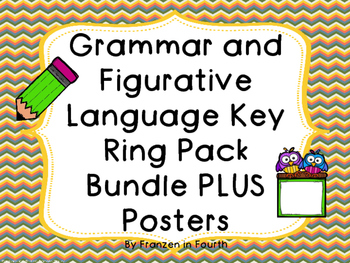 Grammar and Figurative Language Ring Bundle Plus FREE Posters