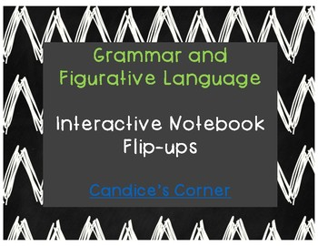 Grammar and Figurative Language Student Notes (Flip-Ups)