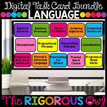 Grammar and Language Digital Task Cards Google Forms