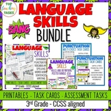 3rd Grade Grammar and Language BUNDLE: Activities, Posters and Task Cards