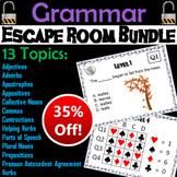 Grammar Escape Room - English: Parts of Speech, Prepositions, Appositives, etc.