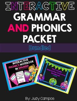 Grammar and Phonics Interactive Notebooks in *SPANISH**