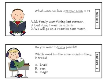 Grammar:  ELA and Phonics Task Cards