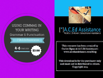 Grammar and Punctuation: Commas