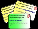 Grammar and Punctuation 'Follow Me' Class Game/Activity