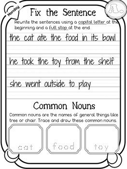 Grammar and Punctuation Year 2 FREEBIE