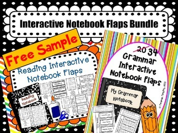 Interactive Notebook Flaps for Grammar and Reading - Free Samples