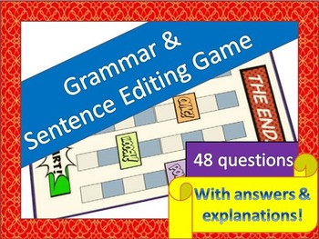 Grammar and Sentence Editing Game