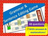 Grammar and Sentence Editing Game