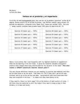 Grammar and Verb Conjugation (guided internet practice checklist)