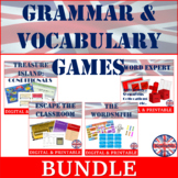 Grammar and Vocabulary Games Bundle   CEFR B2   Grades 10-12