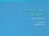 Grammar and Vocabulary Games