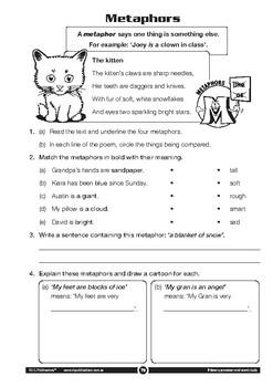 Grammar and Word Study: Figures of speech – Year 2