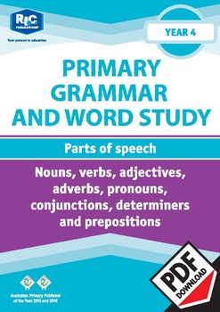 Grammar and Word Study: Parts of speech – Year 4