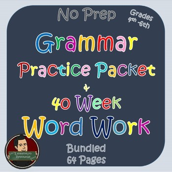 Grammar and Word Work Bundle No Prep