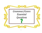 Grammar and Writing Essential Questions