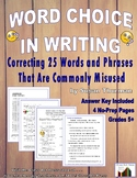 Grammar, Writing Practice: Correcting 25 Commonly Misused