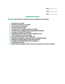 Grammar and Writing sheets with explination