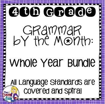 Grammar by the Month Bundle 4th Grade