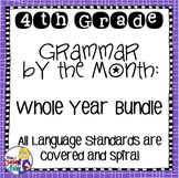 Grammar by the Month Bundle 4th Grade