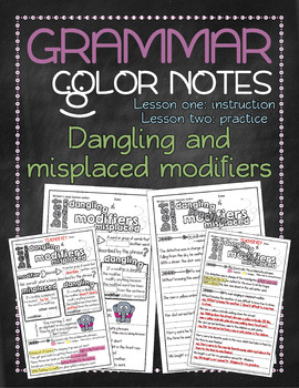 grammar doodle notes dangling and misplaced modifiers by tamara salisbury. Black Bedroom Furniture Sets. Home Design Ideas