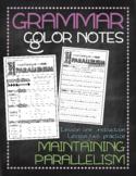 Grammar doodle notes: Parallelism